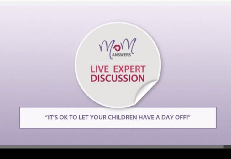 Sonja Walker responds to the opinion that it's OK to let your children have a day off