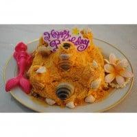 "Edible sandcastle. ""Sandcastle Cake"""