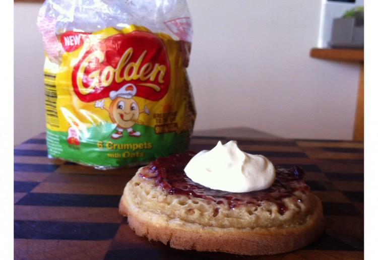 Jam & Fruche Golden Crumpets with Oats