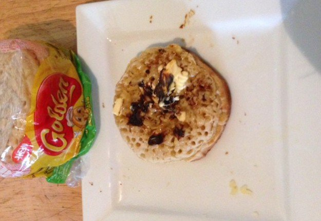 Vegemitey Goodness … Golden® Crumpets with Oats