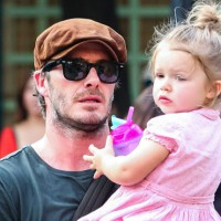 What did the Beckham's do for Harper Seven's birthday?