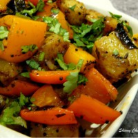 Potato Bell-Pepper Sabzi – an Indian Stir-Fry