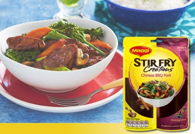 Maggi Fresh Ideas - Maggi Stir Fry Creations Chinese BBQ Pork