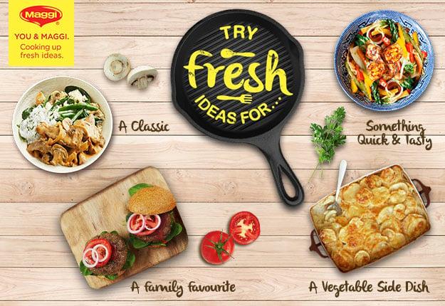 Maggi Stir Fry risotto and burgers fresh ideas