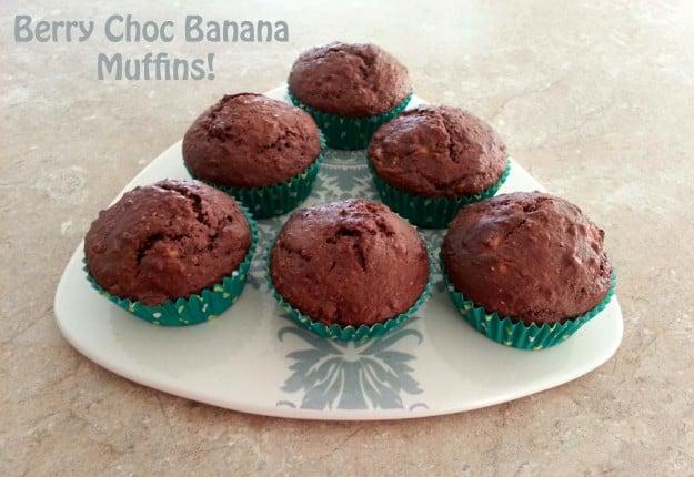 Berry Choc Banana Muffins