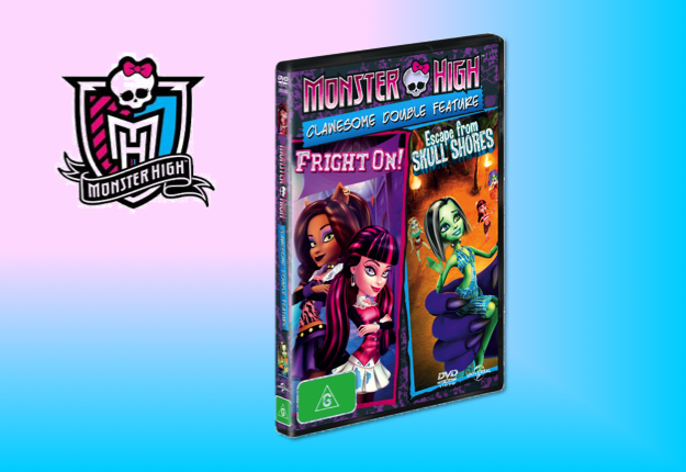 WIN 1 of 15 Monster High – Clawesome Double Feature DVDs!