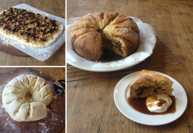 Apple, Cranberry & Walnut Scone Roll
