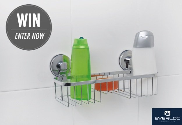 Win 1 of 10 Everloc Stainless Steel Bathroom Shelves!