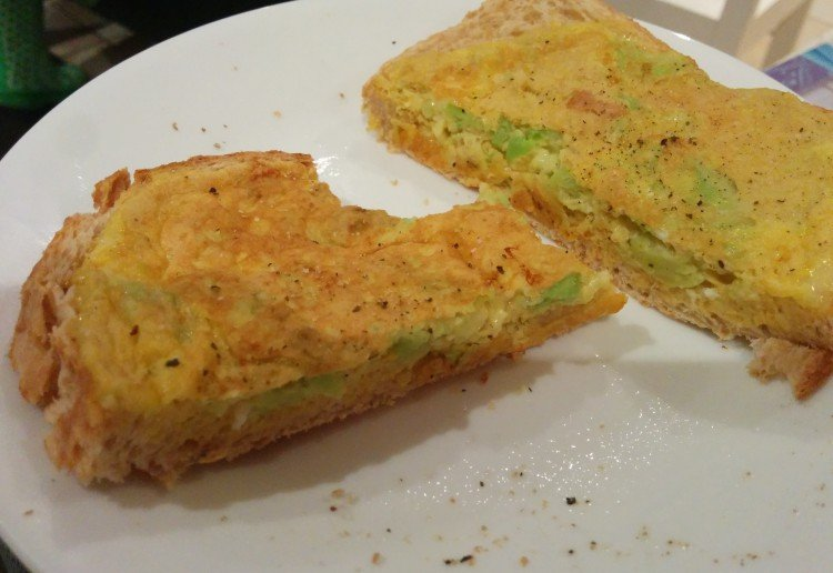 Breakfast with Cheese, Avocado and Egg