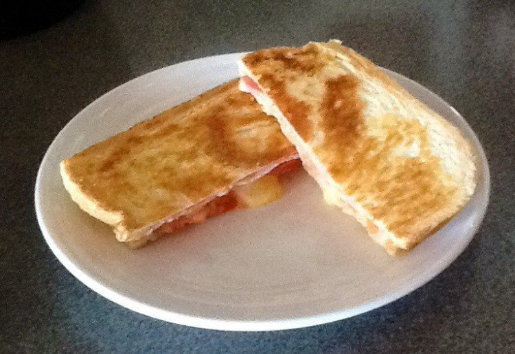 Bacon, Cheese & Tomato Toastie