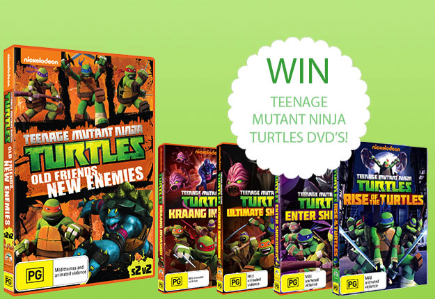 WIN Teenage Mutant Ninja Turtles DVD pack!