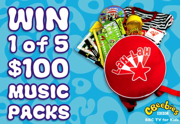 Win 1 of 5 CBeebies Big Beat Bop Music Packs!