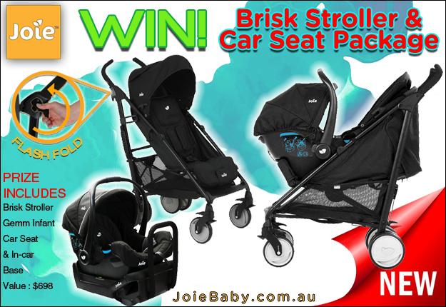WIN a Joie Brisk Stroller & Car Seat Package