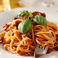 Spinach and parmesan bolognese