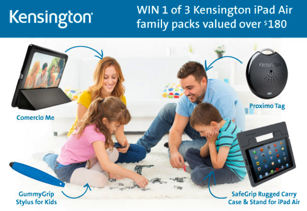 bandit23 reviewed WIN 1 of 3 Kensington iPad Air family packs!