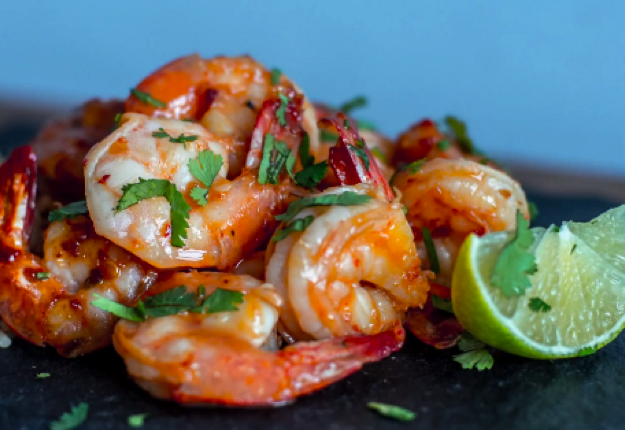 Sweet and spicy prawns