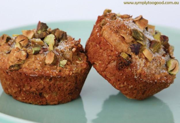 Orange, date & pistachio muffins