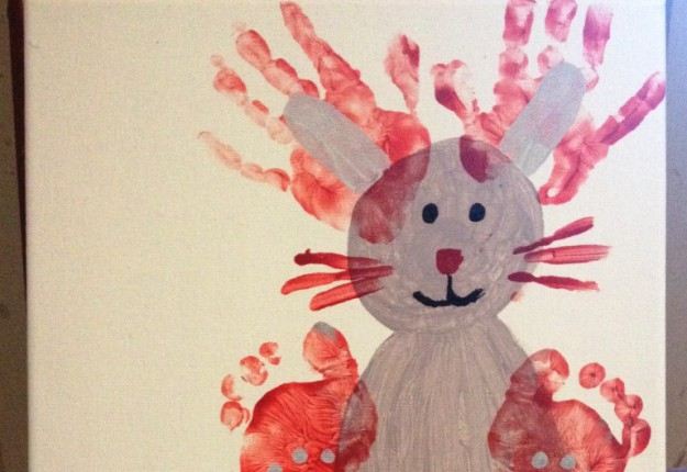 Easter Bunny toddler print canvas!