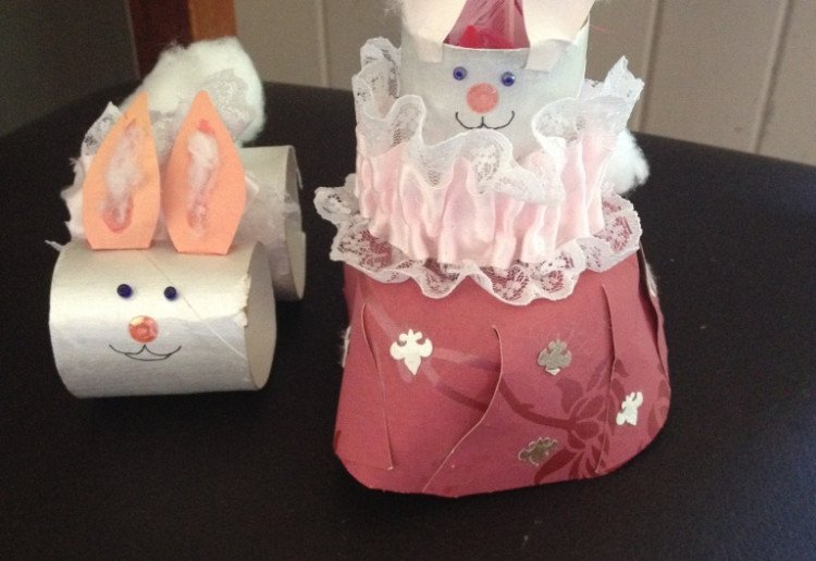 Easter Bunny Toilet Paper Roll Bunnies Arts Crafts And Diy
