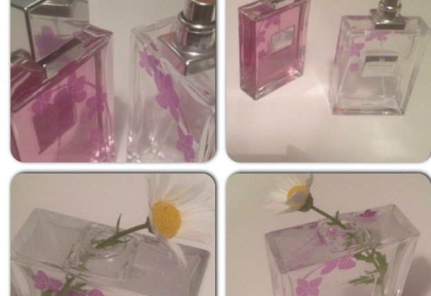 Up-cycle a perfume bottle to a vase