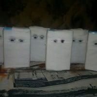 Halloween mummy juice boxes