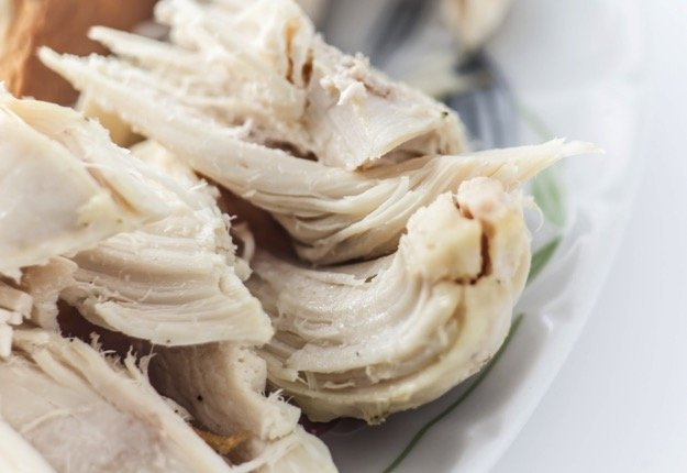 Poached chicken for sandwiches