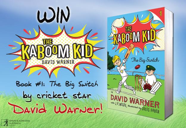 WIN 1 of 40 Kaboom Kid books by Aussie cricket star David Warner!
