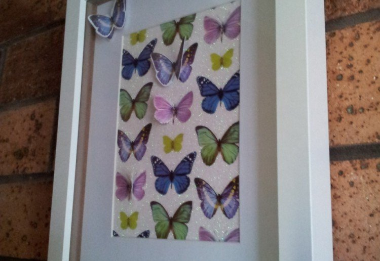Butterfly cut out wall art