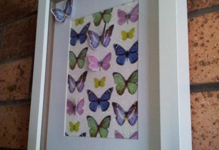 Butterfly cut out wall art