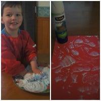 Shaving foam fun