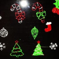 Re-usable Christmas window stickers