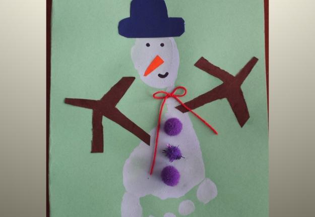 Snowman footprint