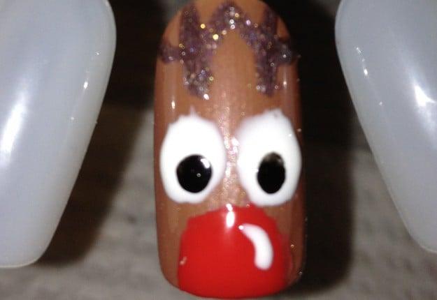 Rudolf Christmas Nails!