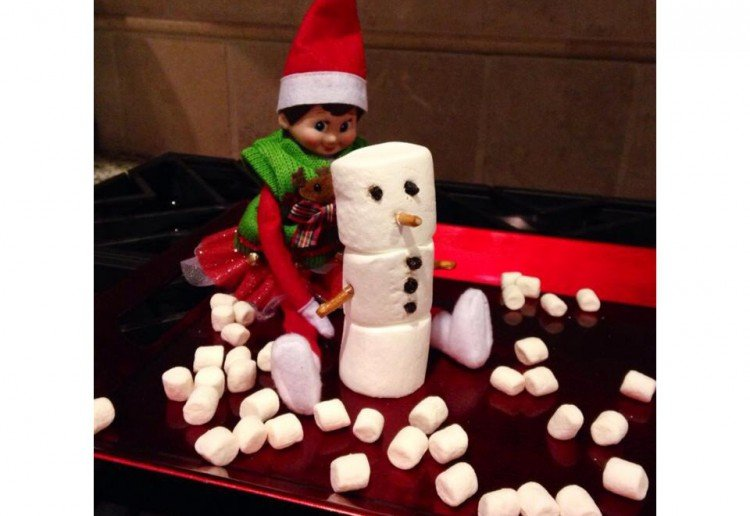 Chrissy the elfs edible snowmen