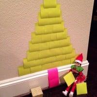 Chrissy the Elf's sticky note Christmas tree