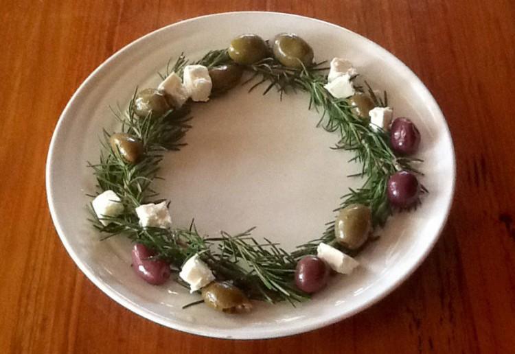 Rosemary olive wreath