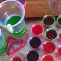 Mango vodka jelly shots