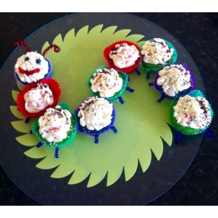 Vegan Rainbow Vanilla Cupcakes