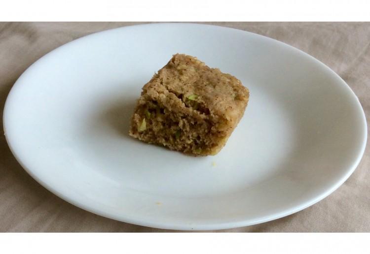 Zucchini microwave pudding