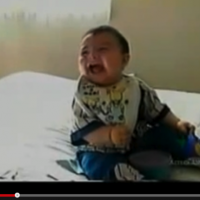 This baby falling over laughing is the BEST thing you will see ALL DAY