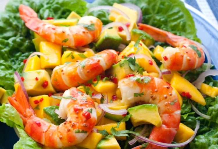 Prawns Avocado and Mango Salad