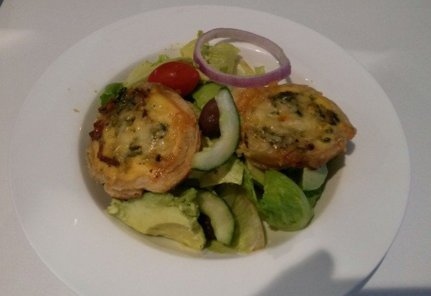 Mini lunchbox quiche