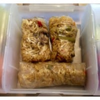 Rice Paper Rolls with leftover Fried Rice