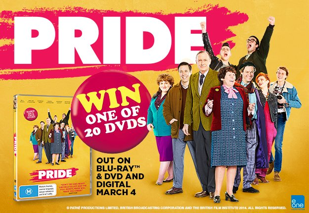 WIN 1 of 20 DVD copies of PRIDE Courtesy of eOne!