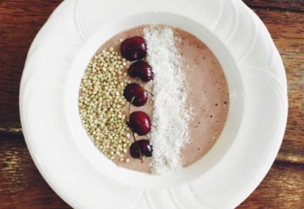 Chocolate 'Cherry Ripe' smoothie bowl