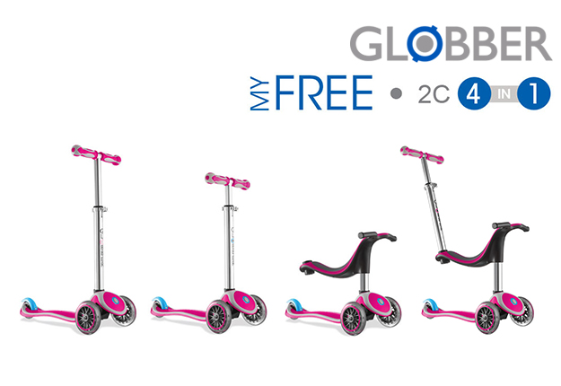 WIN 1 of 3 Globber My FREE 4-in-1