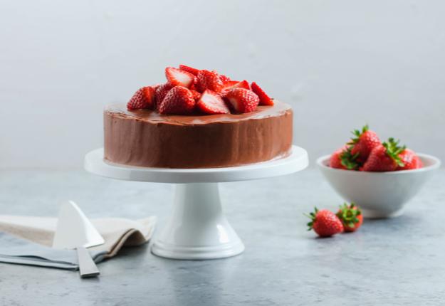 Luscious Dark Chocolate Cake