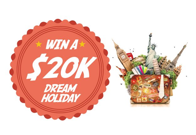 Win a $20,000 DREAM holiday!