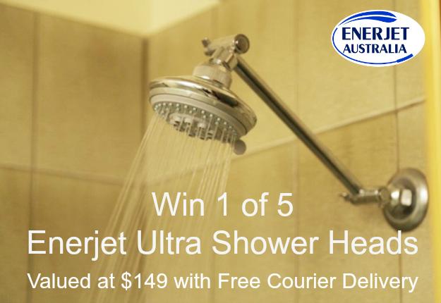 WIN 1 of 5 Ultra-Efficient Shower Heads from Enerjet Australia
