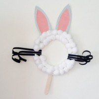Fluffy Easter bunny mask